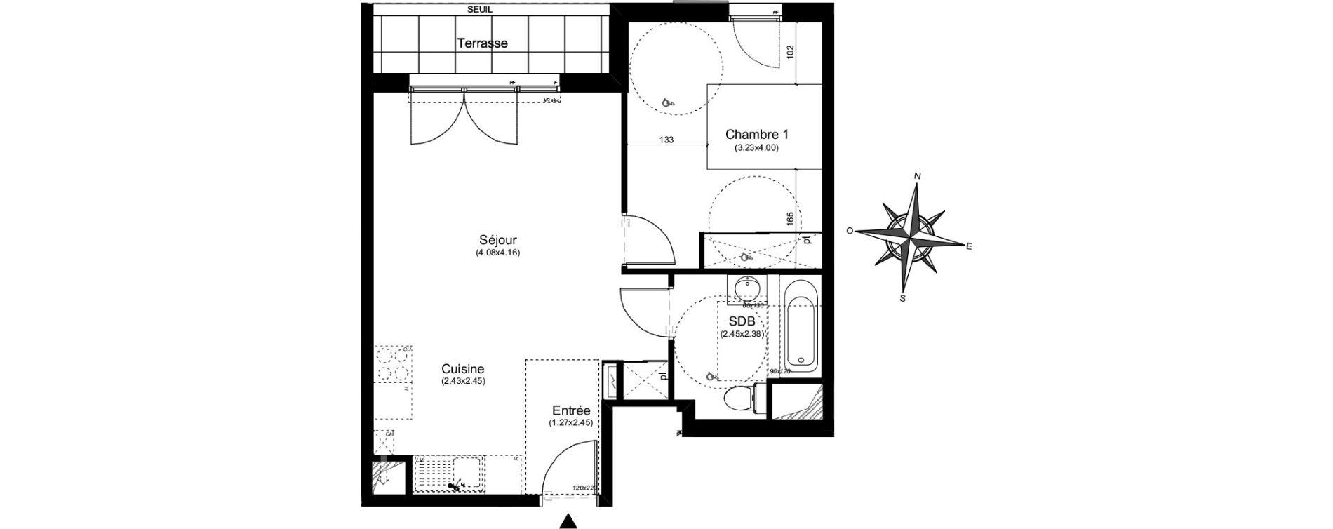 Appartement T2 de 45,72 m2 à Aix-En-Provence Puyricard - couteron