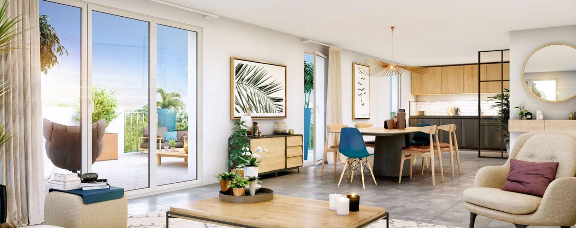 Aix-en-Provence : programme immobilier neuve « La Restanque » en Loi Pinel (2)