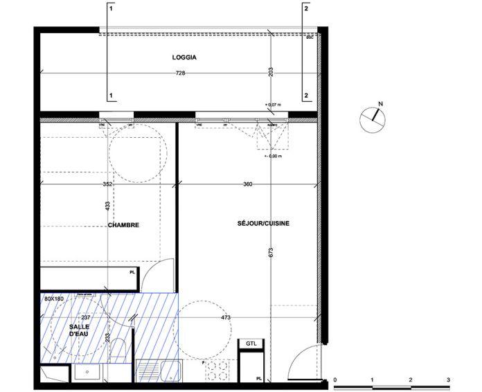 Appartement t2 aix en provence n 040 nord ouest for Achat maison aix en provence