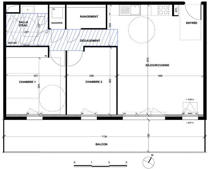 Appartement t3 aix en provence n 044 sud est for Achat maison aix en provence