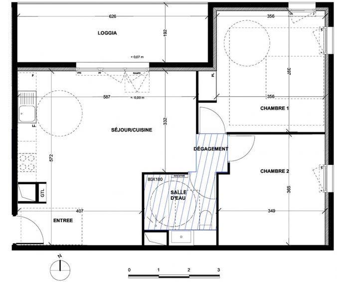 Appartement t3 aix en provence n 056 nord for Achat maison aix en provence