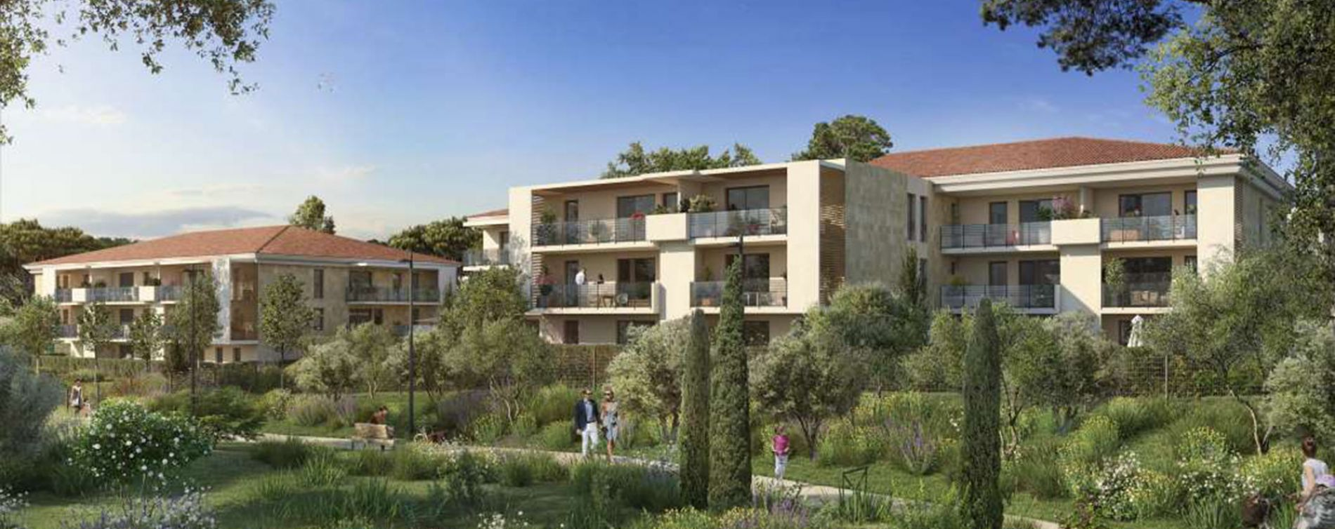 Aix-en-Provence : programme immobilier neuve « Villa Oleia » en Loi Pinel