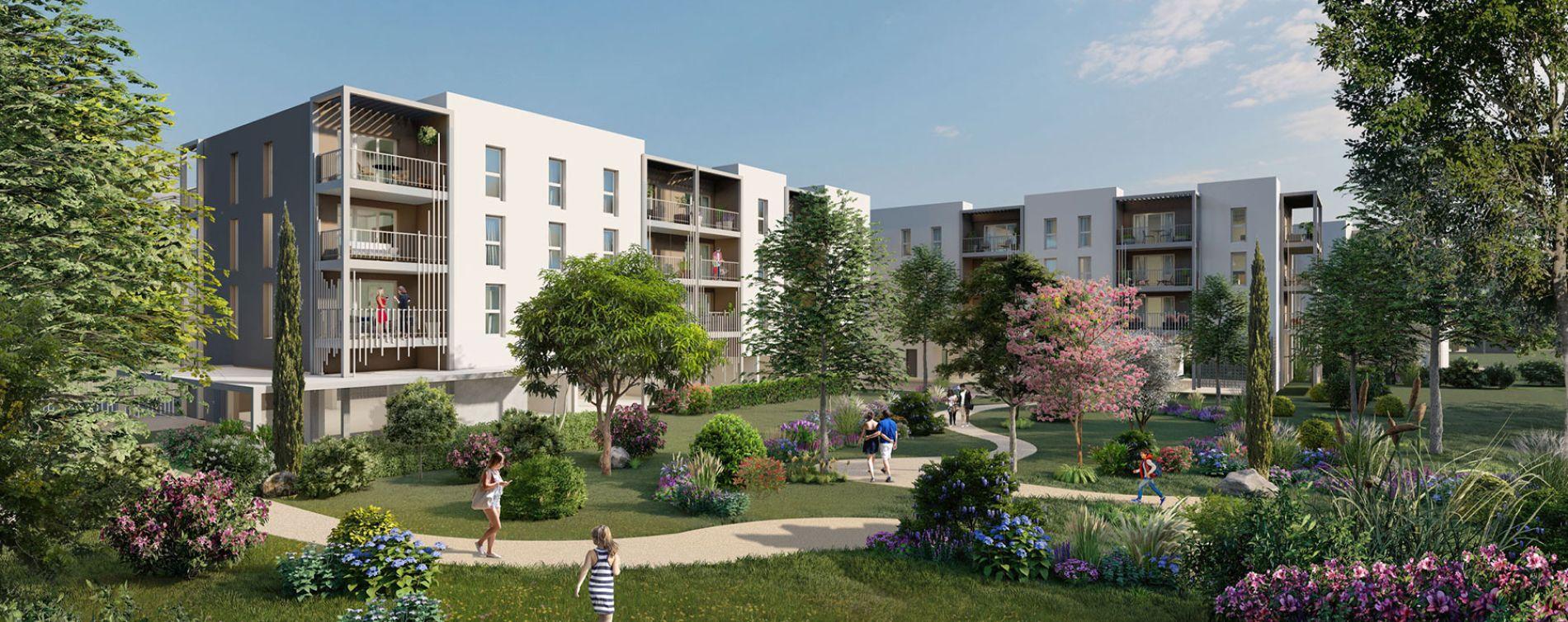 Arles : programme immobilier neuve « Les Jardins du Canal » en Loi Pinel (2)