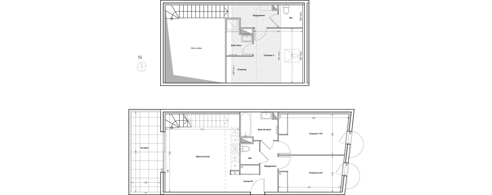 Duplex T4 de 89,39 m2 à Auriol Centre