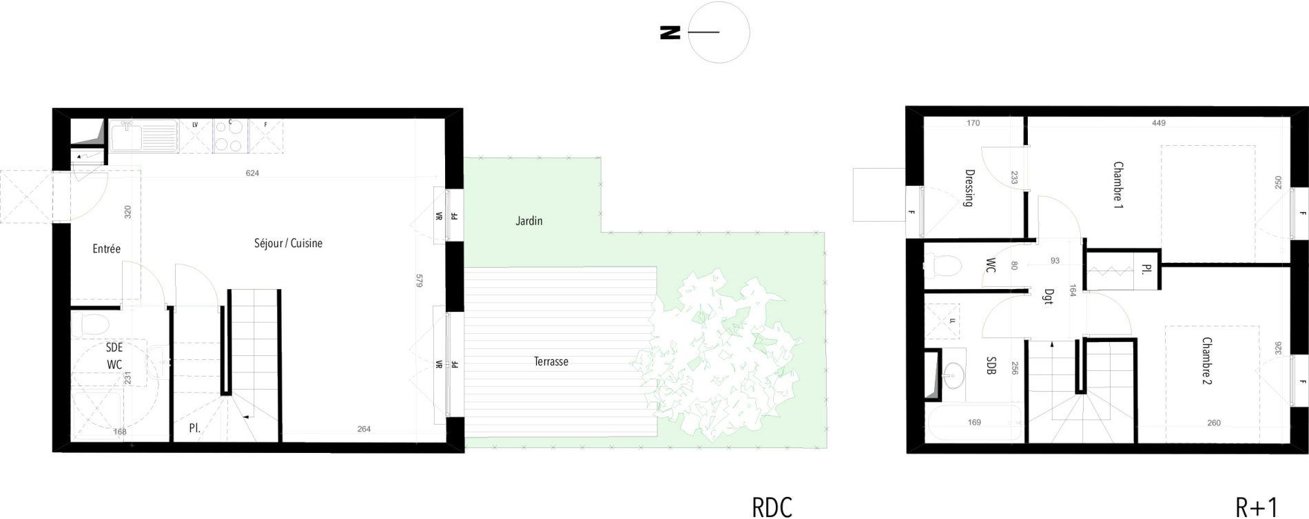 Plan T3 neuf à Châteauneuf-les-Martigues de