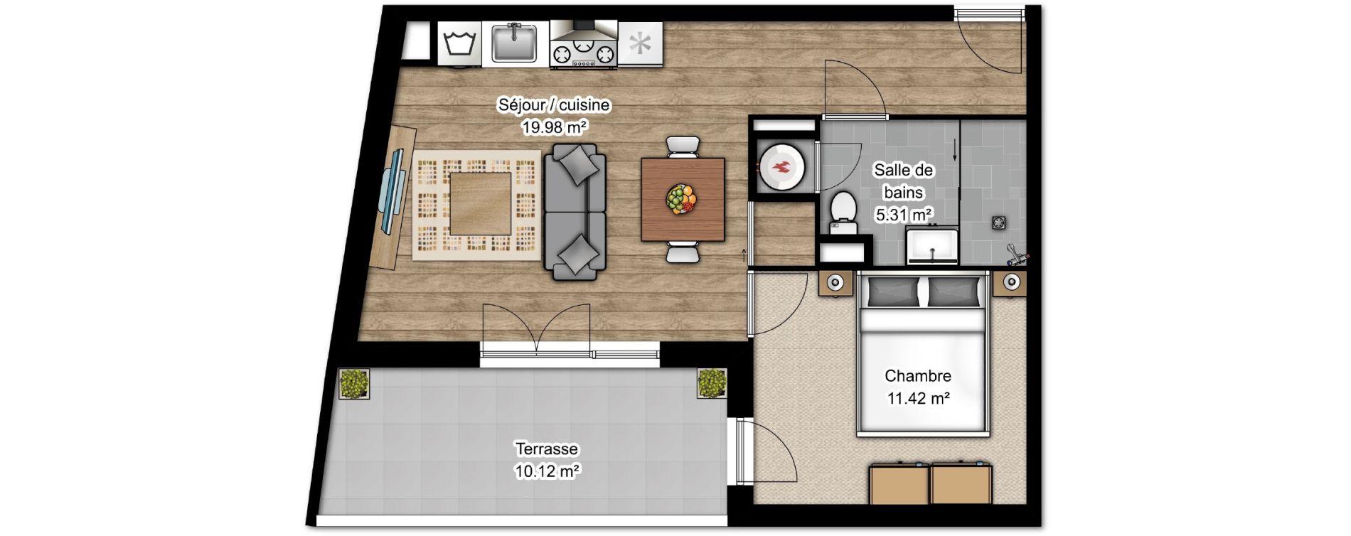 Appartement T2 de 41,91 m2 à Istres Centre