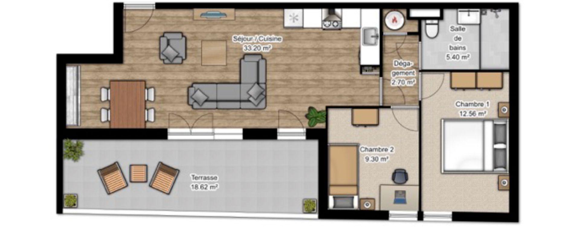 Appartement T3 de 63,16 m2 à Istres Centre