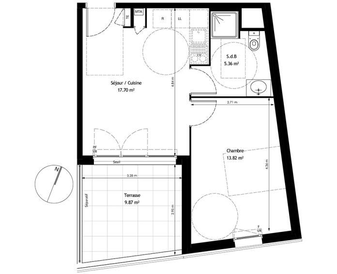 Appartement t2 marseille n 477 s 205 prado for T2 marseille achat