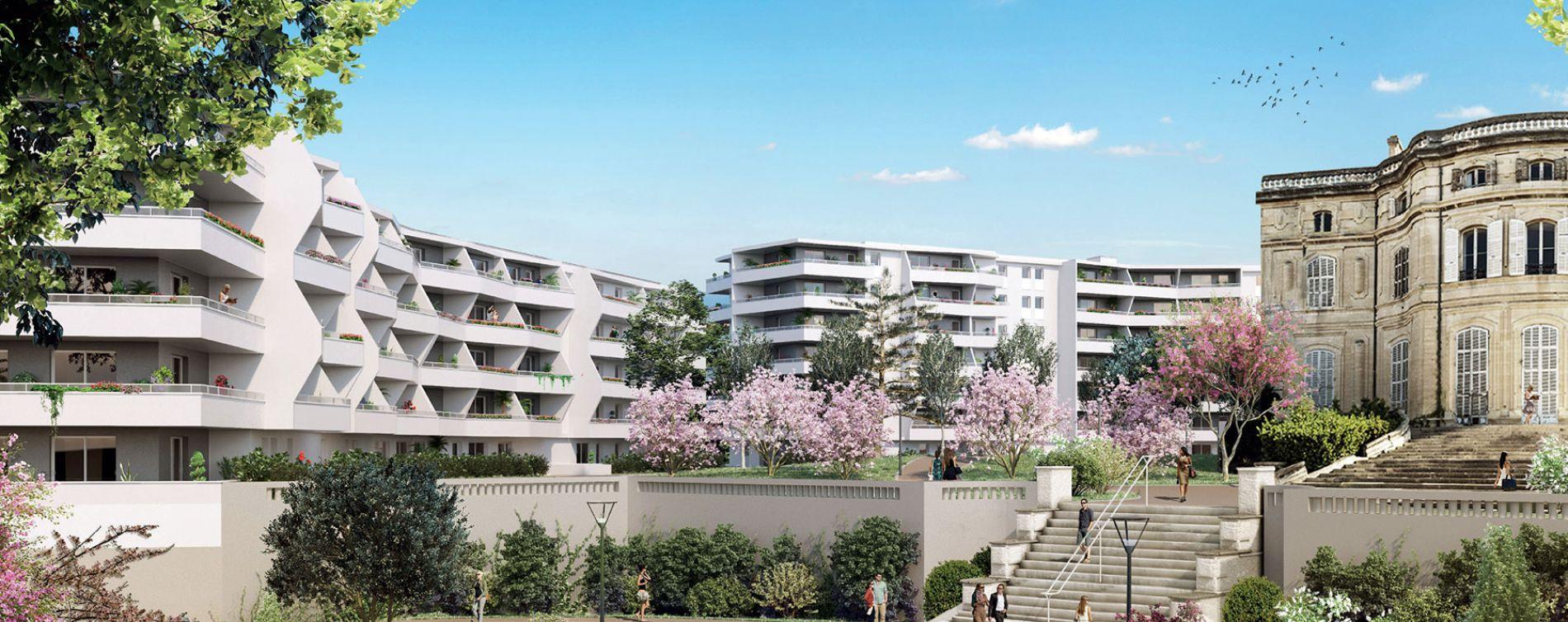 Marseille : programme immobilier neuve « Chateau Valmante - ADMIR' » en Loi Pinel