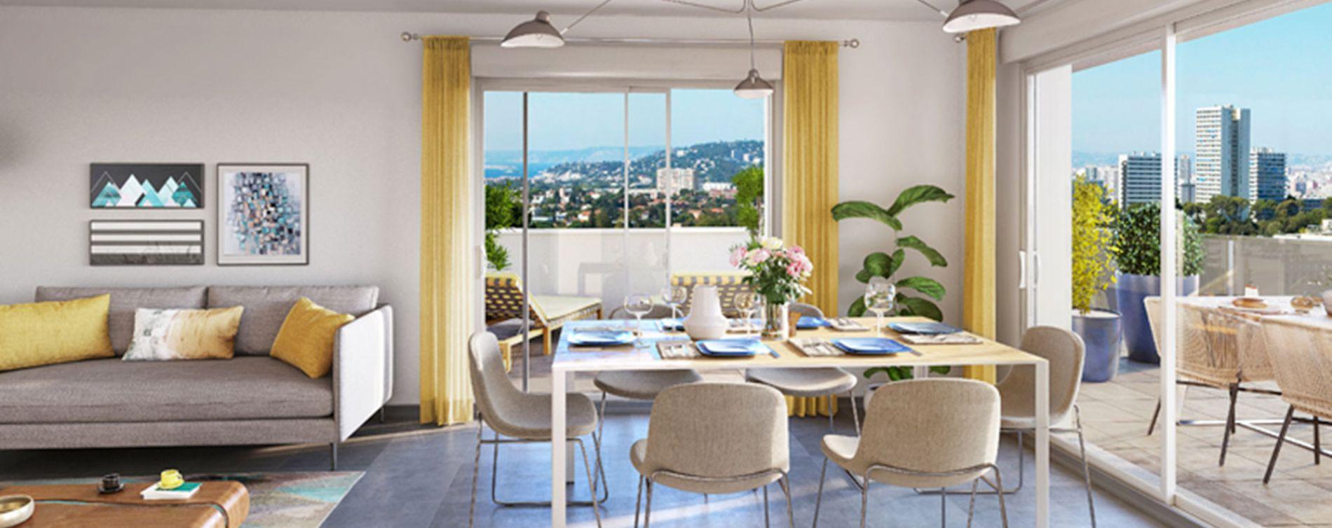 Marseille : programme immobilier neuve « Chateau Valmante - ADMIR' » en Loi Pinel (3)