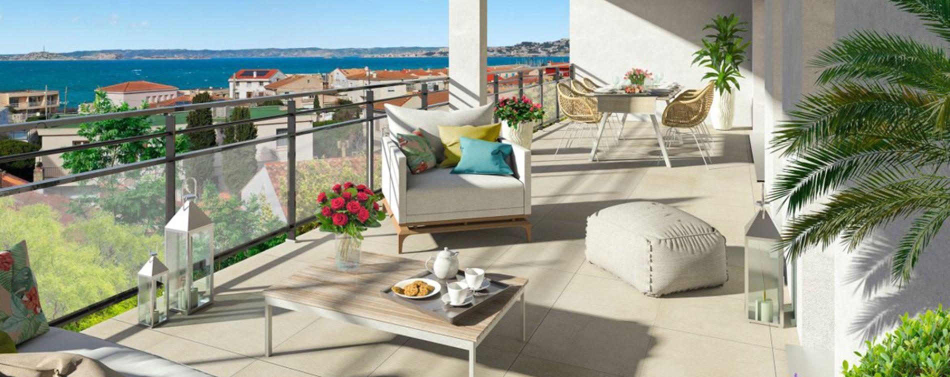 Marseille : programme immobilier neuve « Esprit Calanques » en Loi Pinel (2)