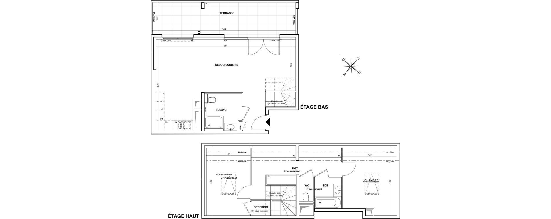 Duplex T3 de 83,97 m2 à Marseille Montredon (8eme)