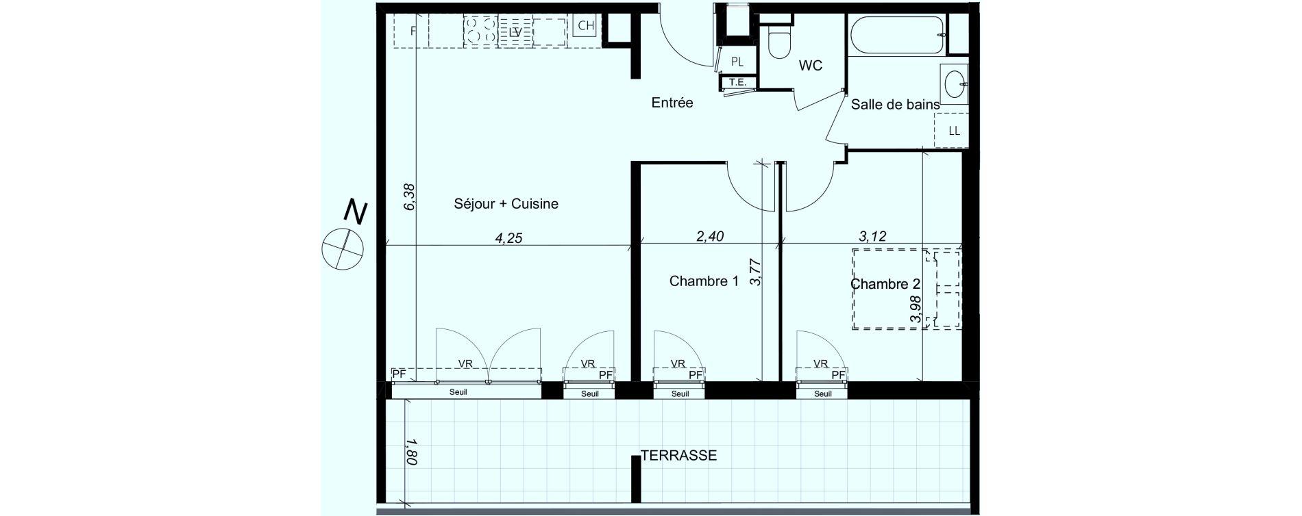 Plan T3 neuf à Marseille de