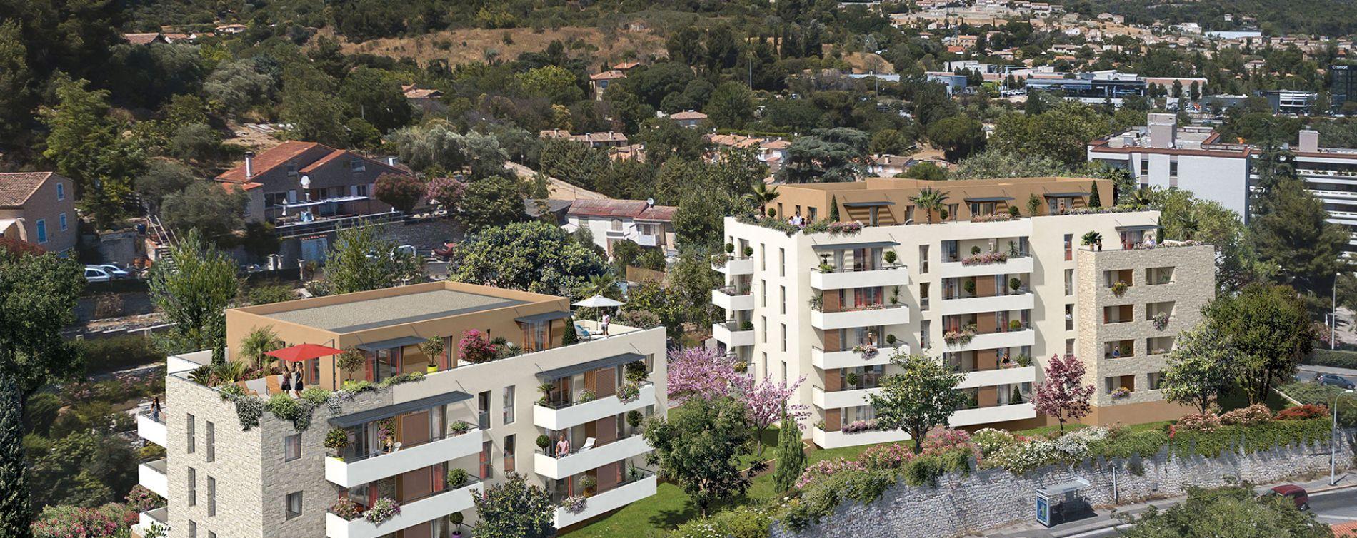 Marseille : programme immobilier neuve « Les Collines de Loubets » (2)