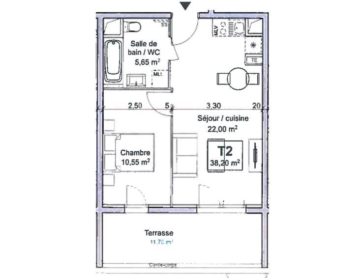 Appartement t2 ligne bleue marseille n756 for Acheter t2 marseille