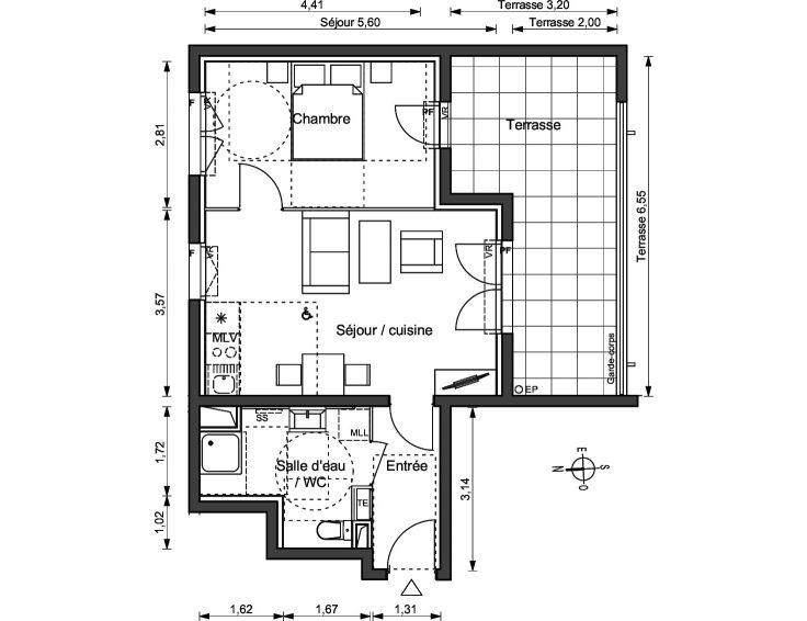 Appartement t2 ligne bleue marseille n781 for Acheter t2 marseille