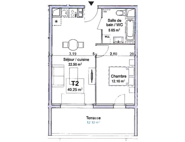 Appartement t2 ligne bleue marseille n802 for Acheter t2 marseille