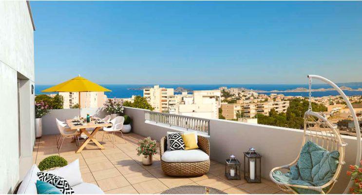 Photo n°1 du Résidence « Panoramik » programme immobilier neuf en Loi Pinel à Marseille