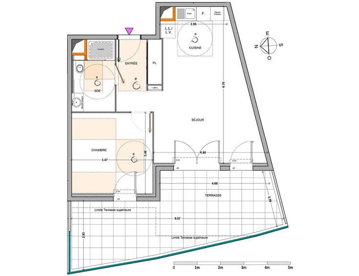 Appartement t2 respir 39 marseille n197 for Acheter t2 marseille