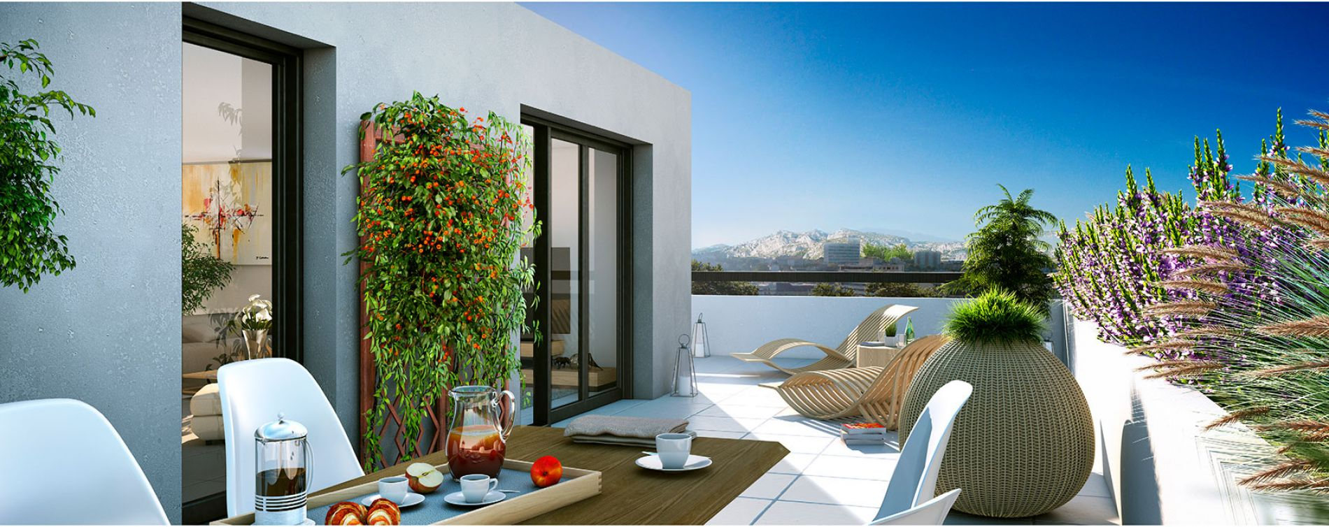 Marseille : programme immobilier neuve « Roof Garden » (2)