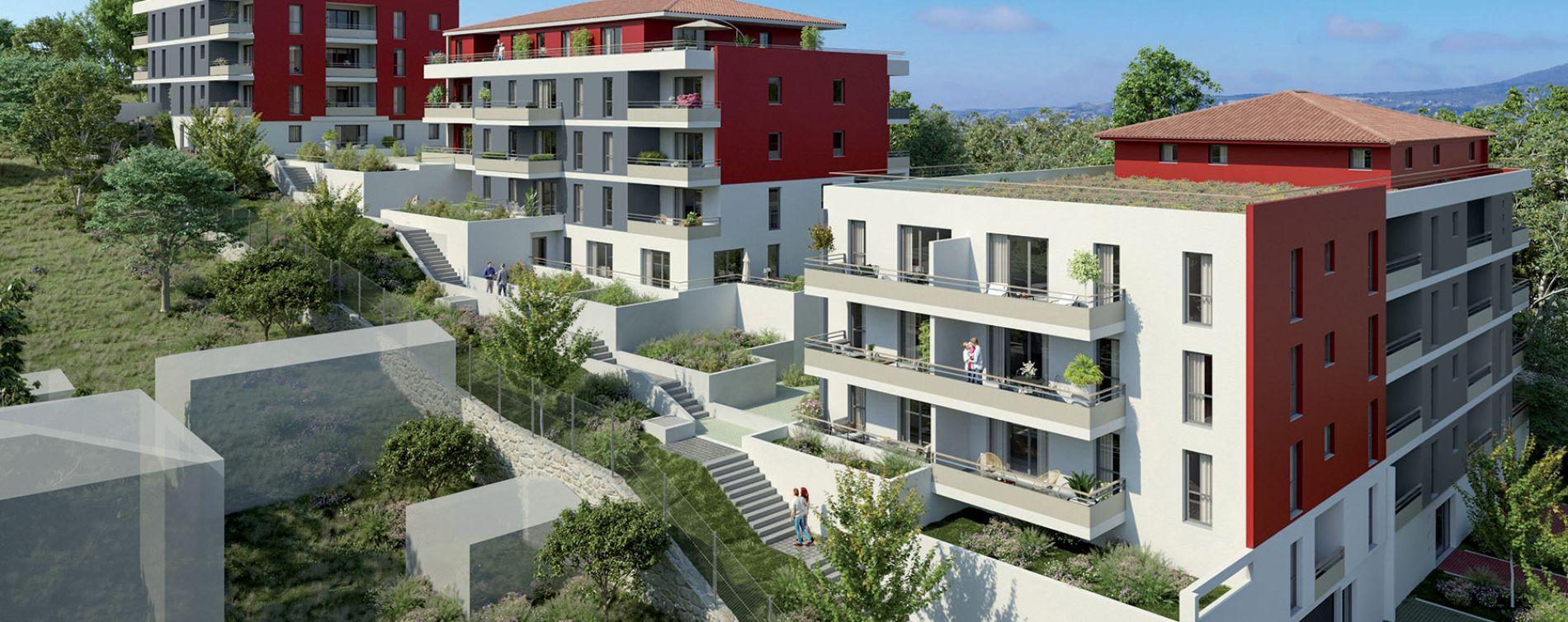 Marseille : programme immobilier neuve « Rubis Garden » en Loi Pinel (2)