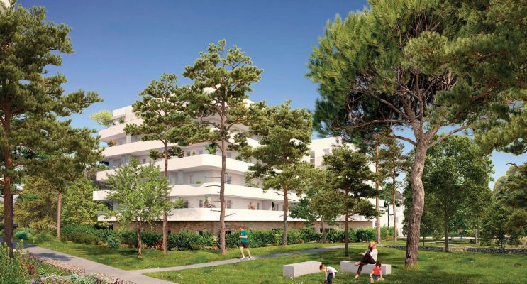 Marseille : programme immobilier neuf « Seconde Nature » en Loi Pinel