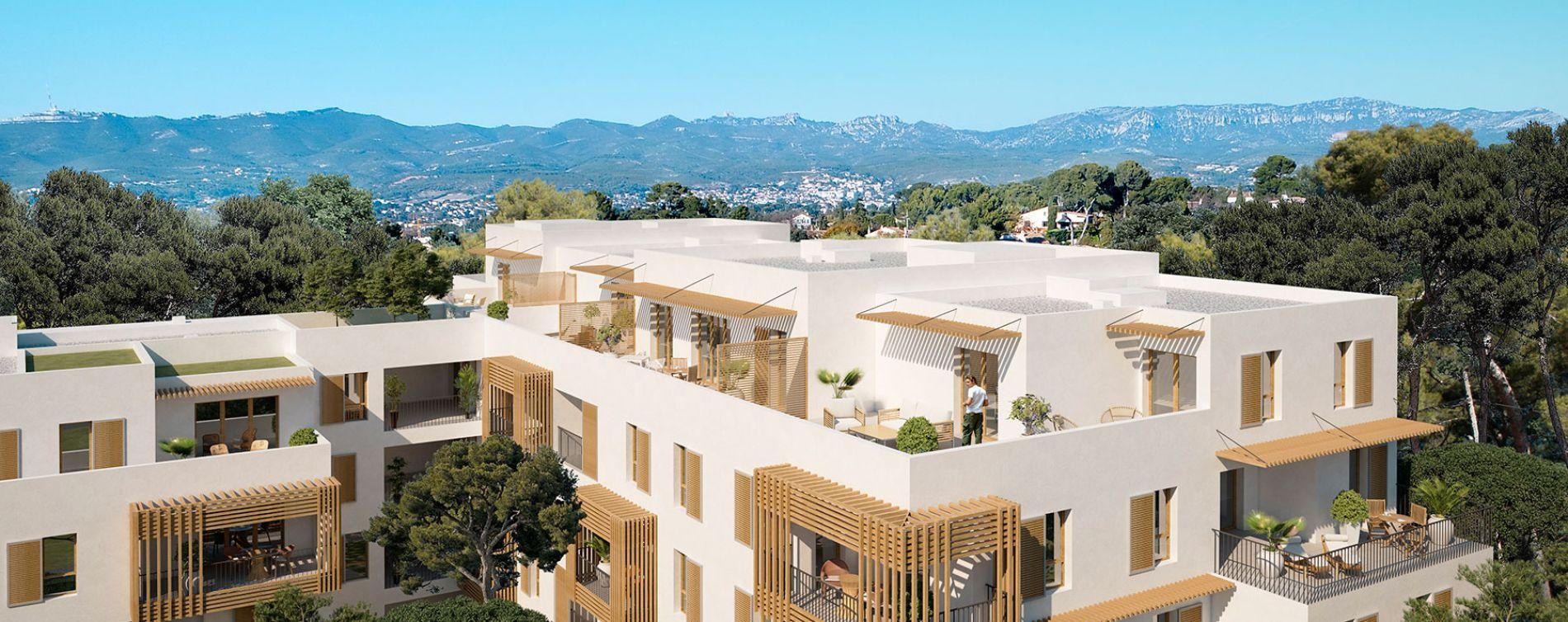 Marseille : programme immobilier neuve « Villa Bianca » en Loi Pinel
