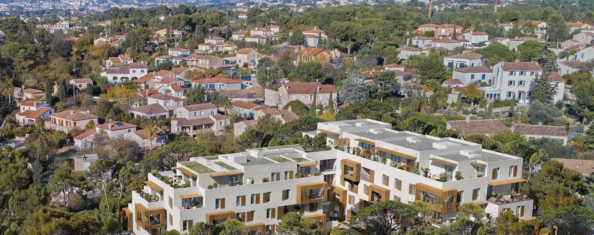 Marseille : programme immobilier neuve « Villa Bianca » en Loi Pinel (2)