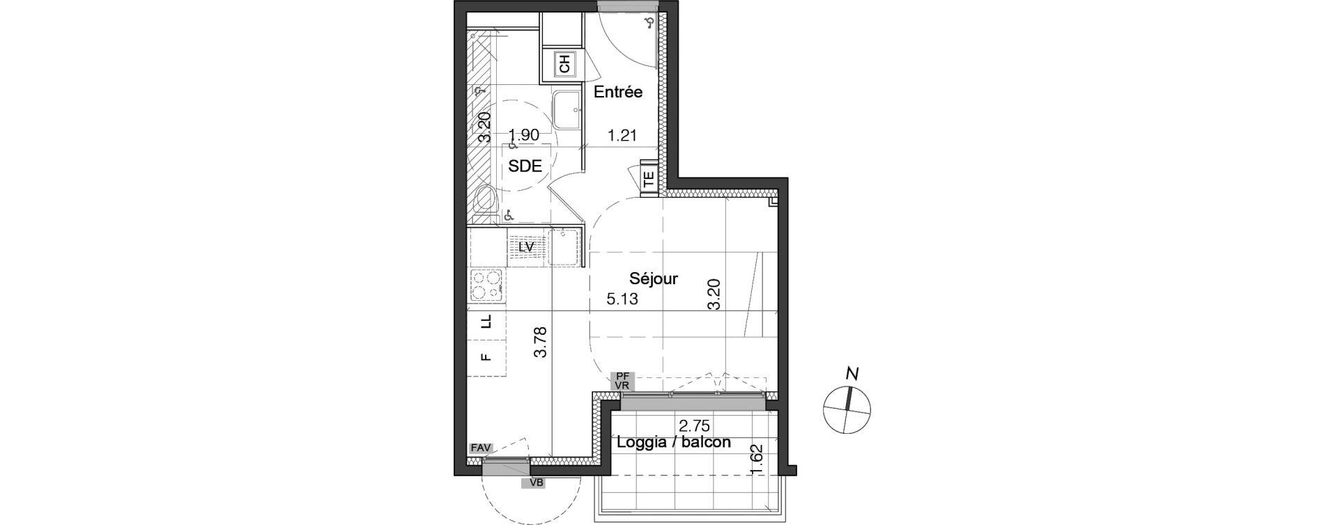 Plan Studio neuf à Marseille de