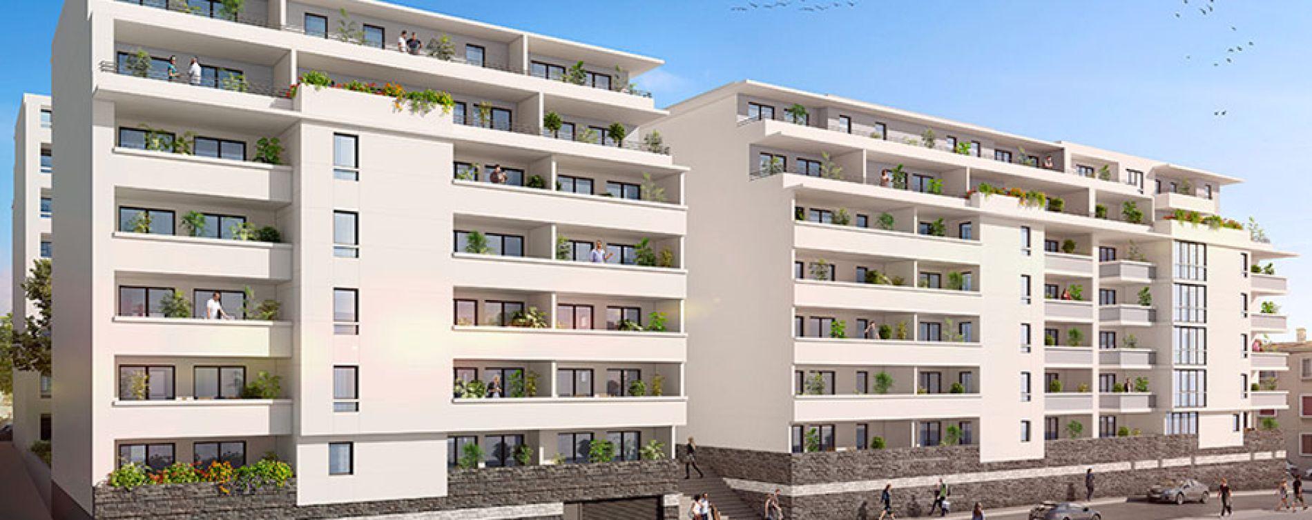 Marseille : programme immobilier neuve « Village Méditerranée » en Loi Pinel