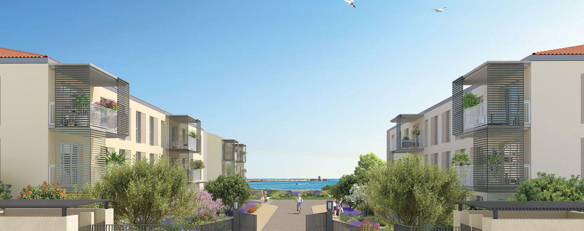Port-de-Bouc : programme immobilier neuve « Domaine Bleu Nature » en Loi Pinel