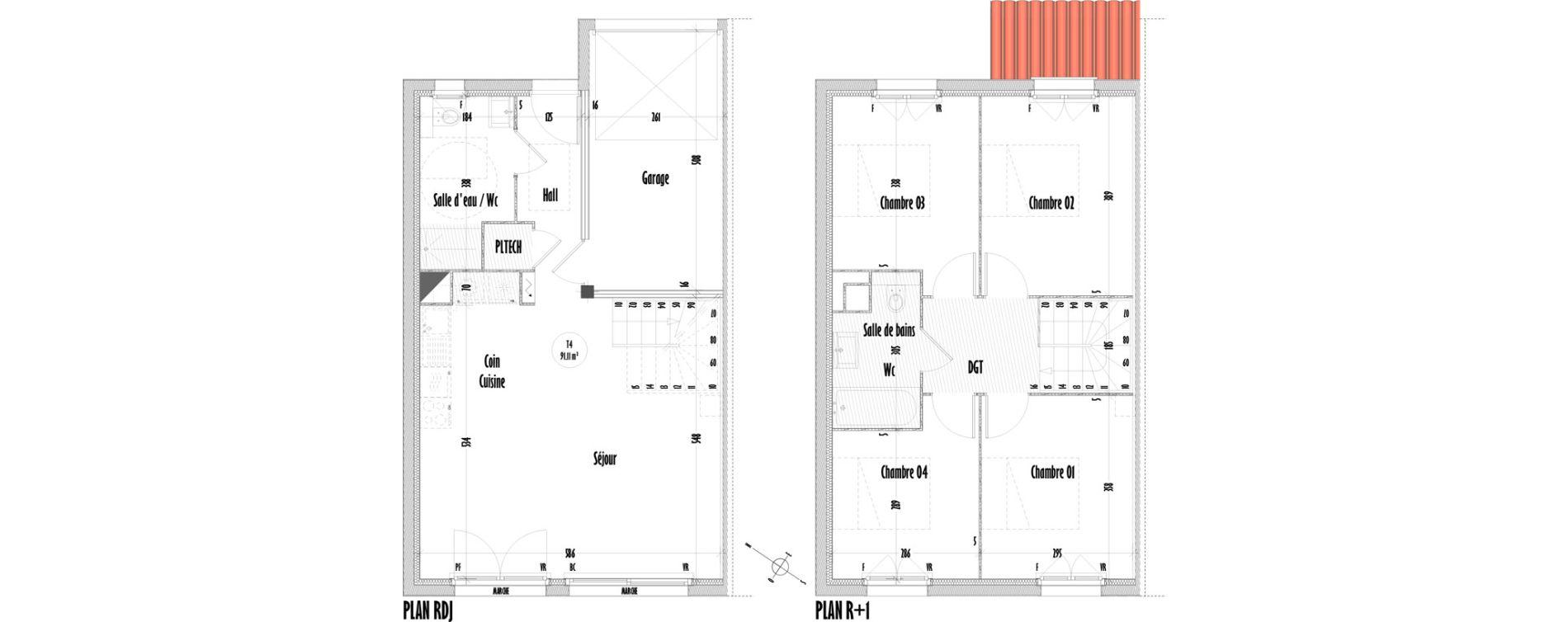 Maison T5 de 91,11 m2 à Saint-Mitre-Les-Remparts Centre