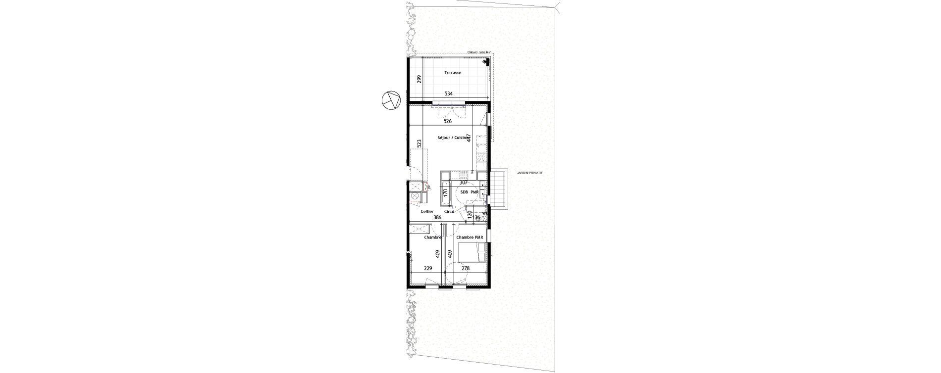 Appartement T3 de 62,31 m2 à Venelles Les michelons