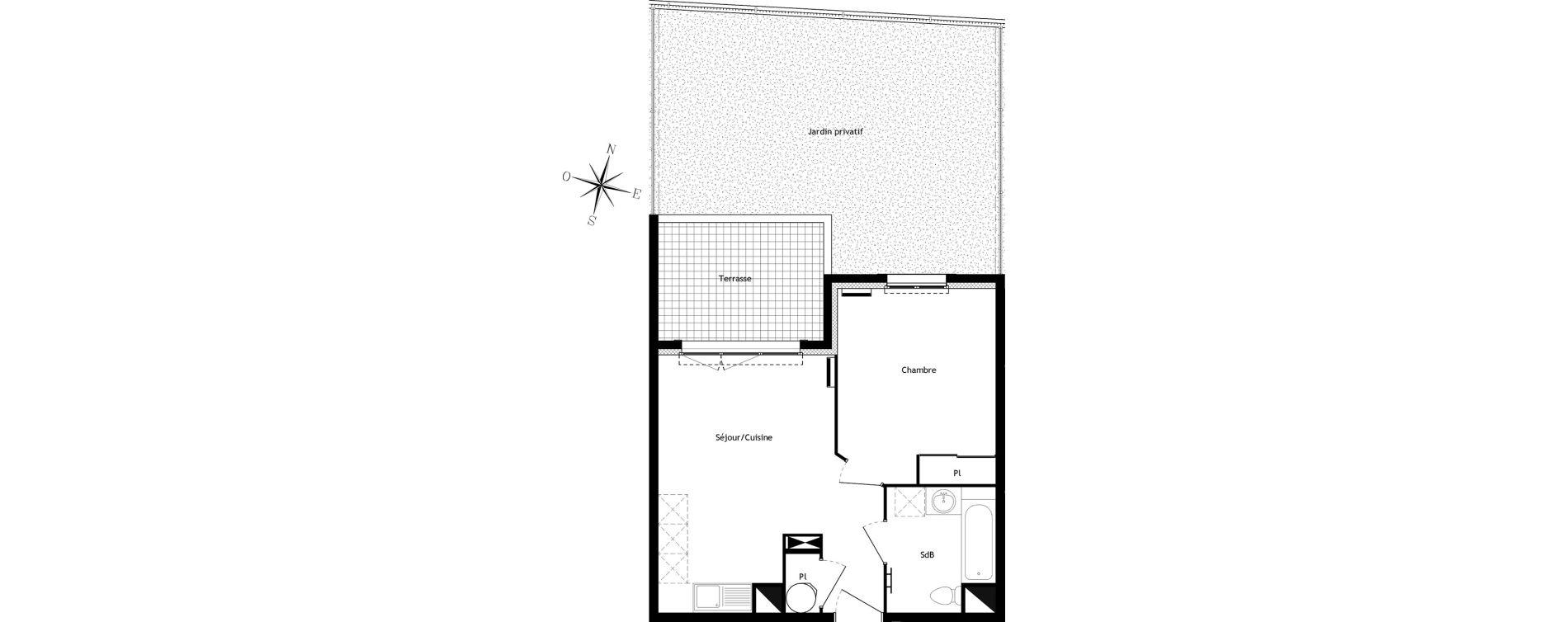 Appartement T2 de 38,58 m2 à Bormes-Les-Mimosas Centre
