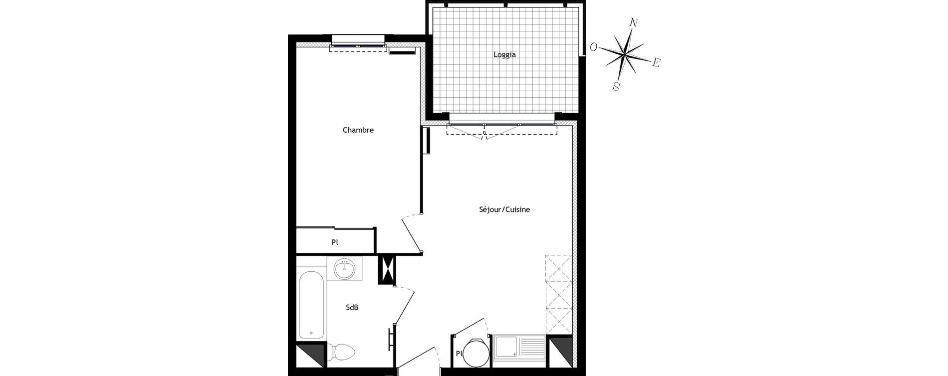 Appartement T2 de 37,88 m2 à Bormes-Les-Mimosas Centre