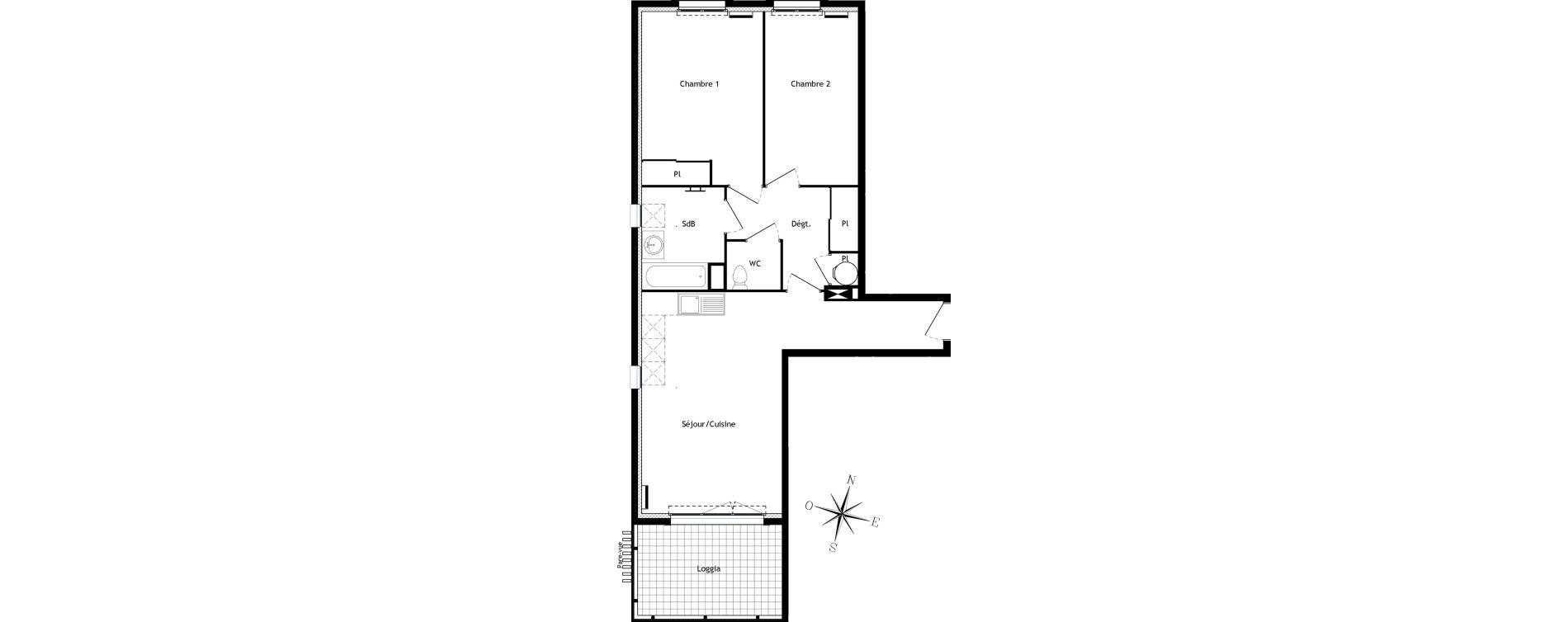 Appartement T3 de 64,88 m2 à Bormes-Les-Mimosas Centre