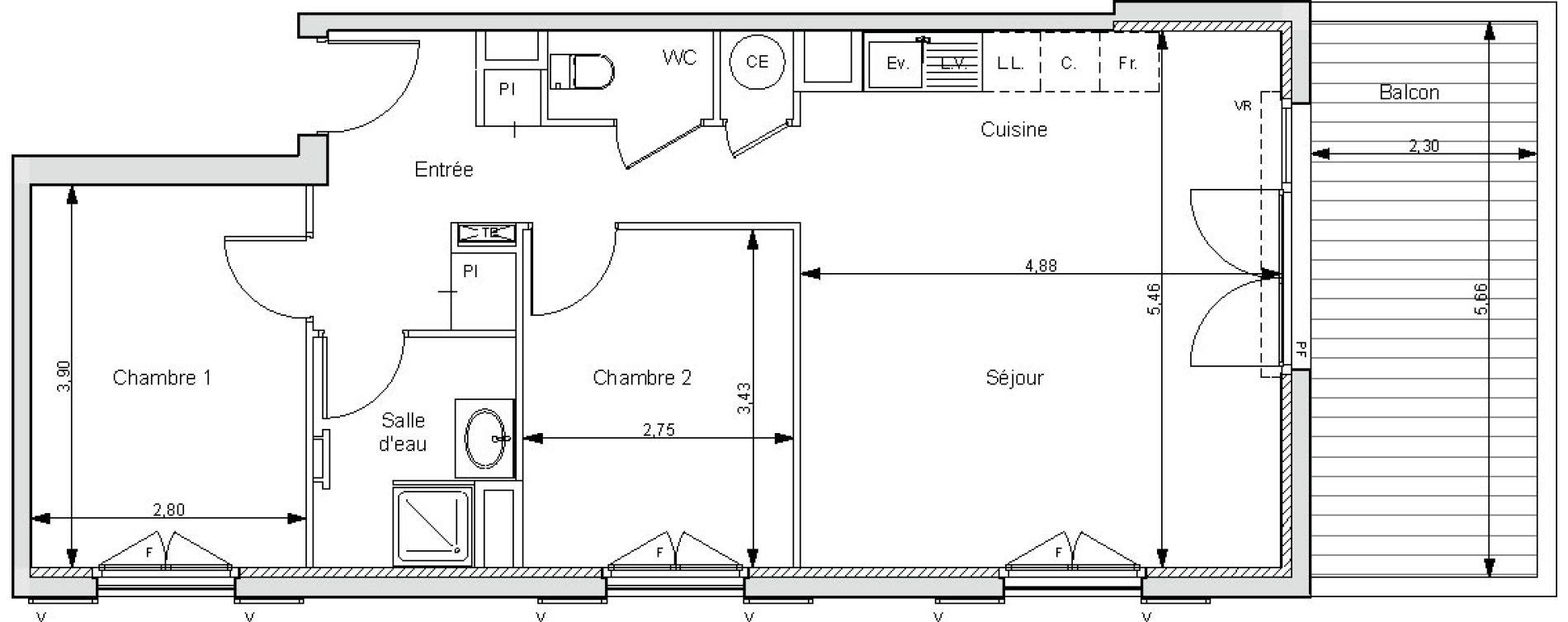 Appartement T3 de 62,05 m2 à Bormes-Les-Mimosas Bormes les mimosas le pin