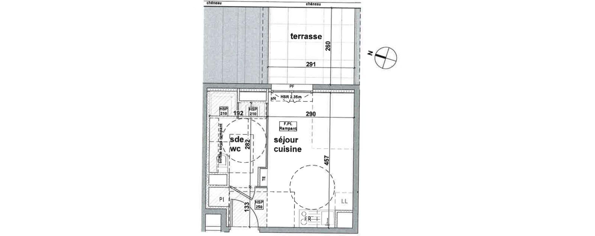Appartement T1 de 20,30 m2 à Brignoles Centre