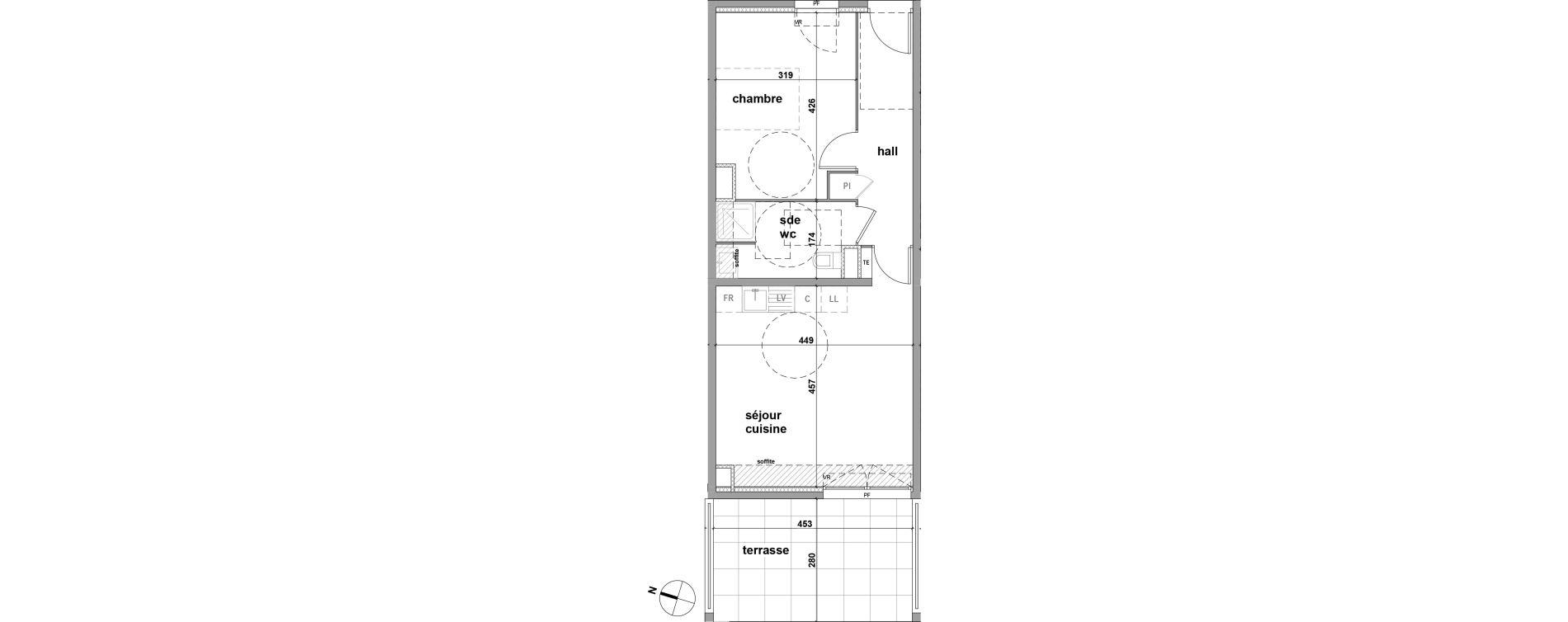 Appartement T2 de 46,50 m2 à Brignoles Centre