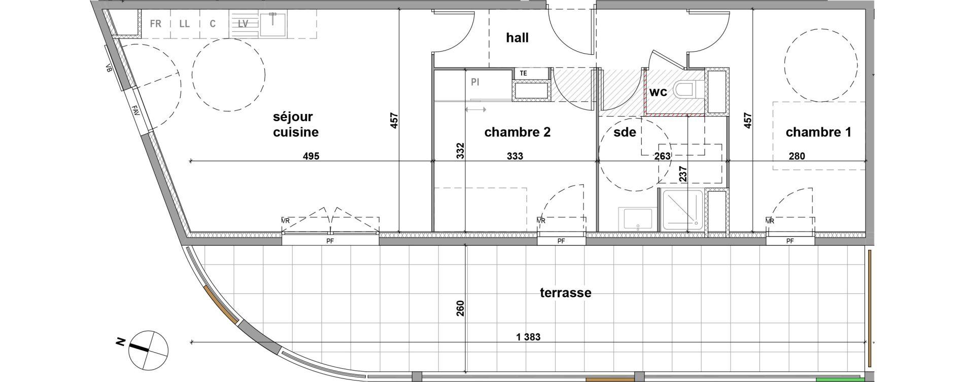 Appartement T3 de 64,60 m2 à Brignoles Centre