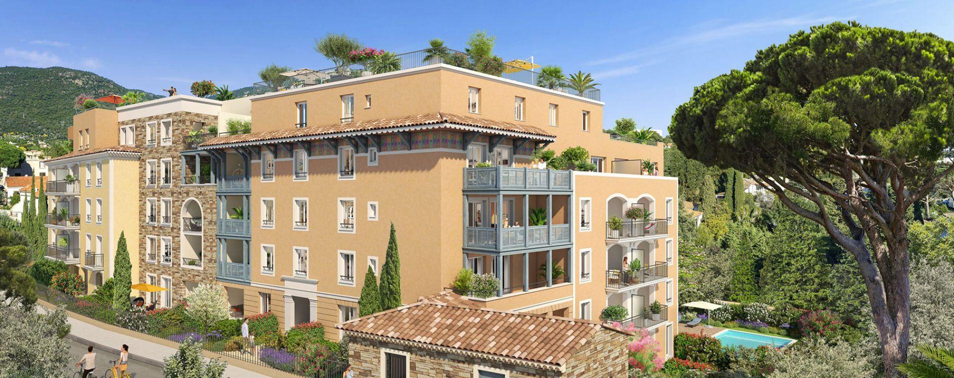 Cavalaire-sur-Mer : programme immobilier neuve « Castel Panorama » en Loi Pinel