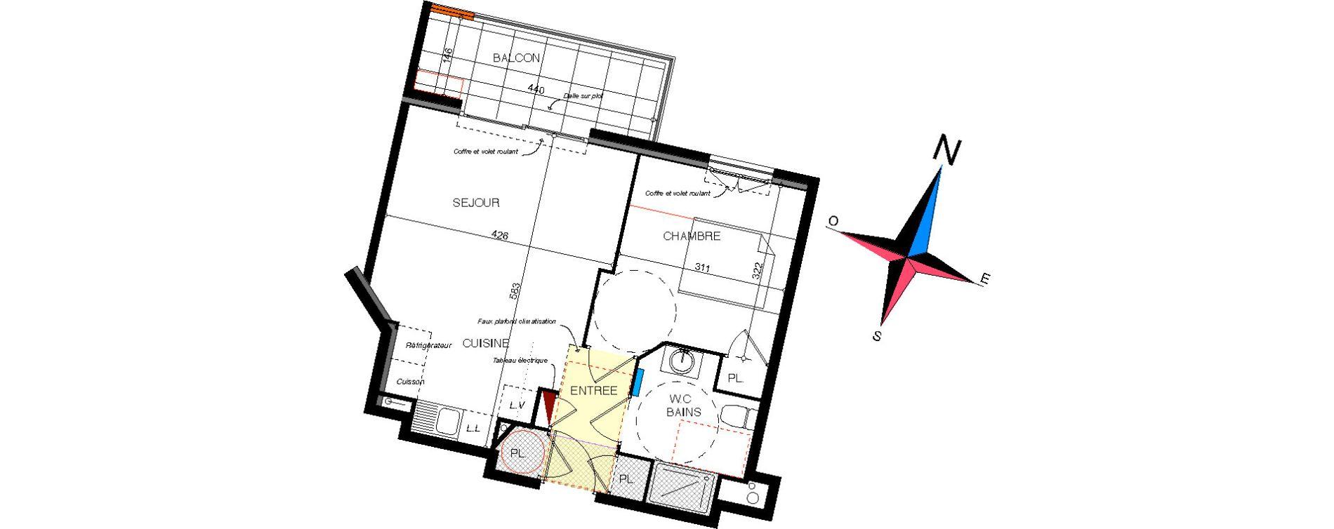Plan T2 neuf à Cavalaire-sur-Mer de