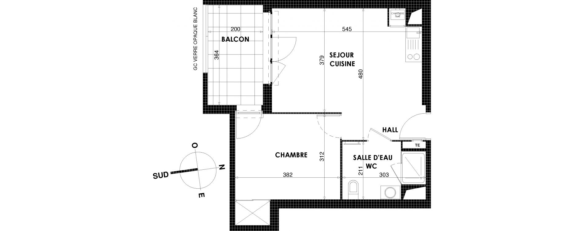 Appartement T2 de 42,03 m2 à Draguignan Centre