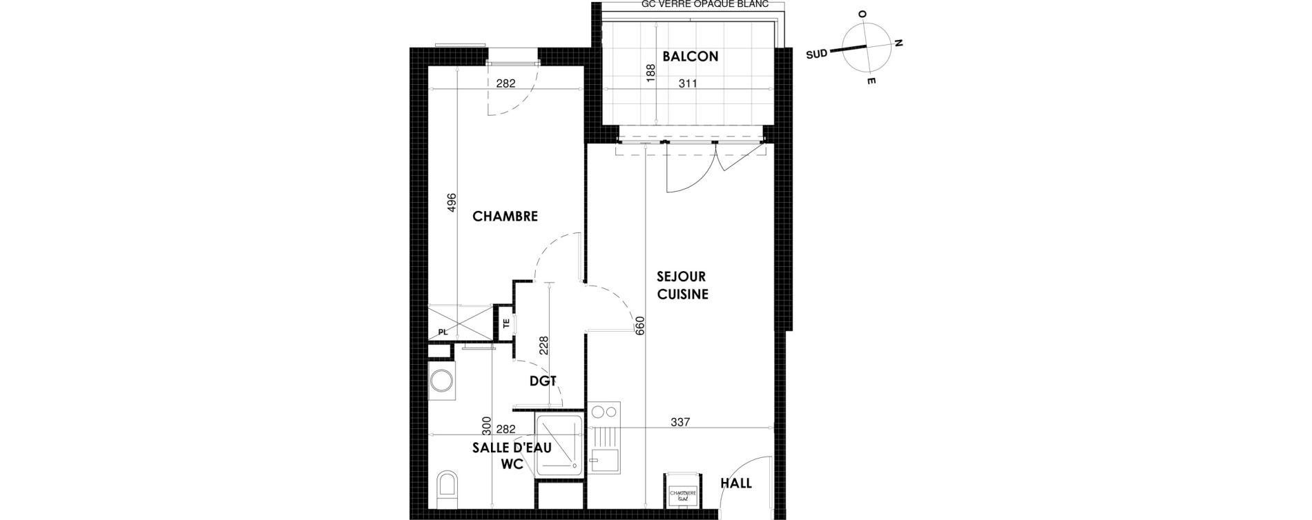 Appartement T2 de 43,64 m2 à Draguignan Centre