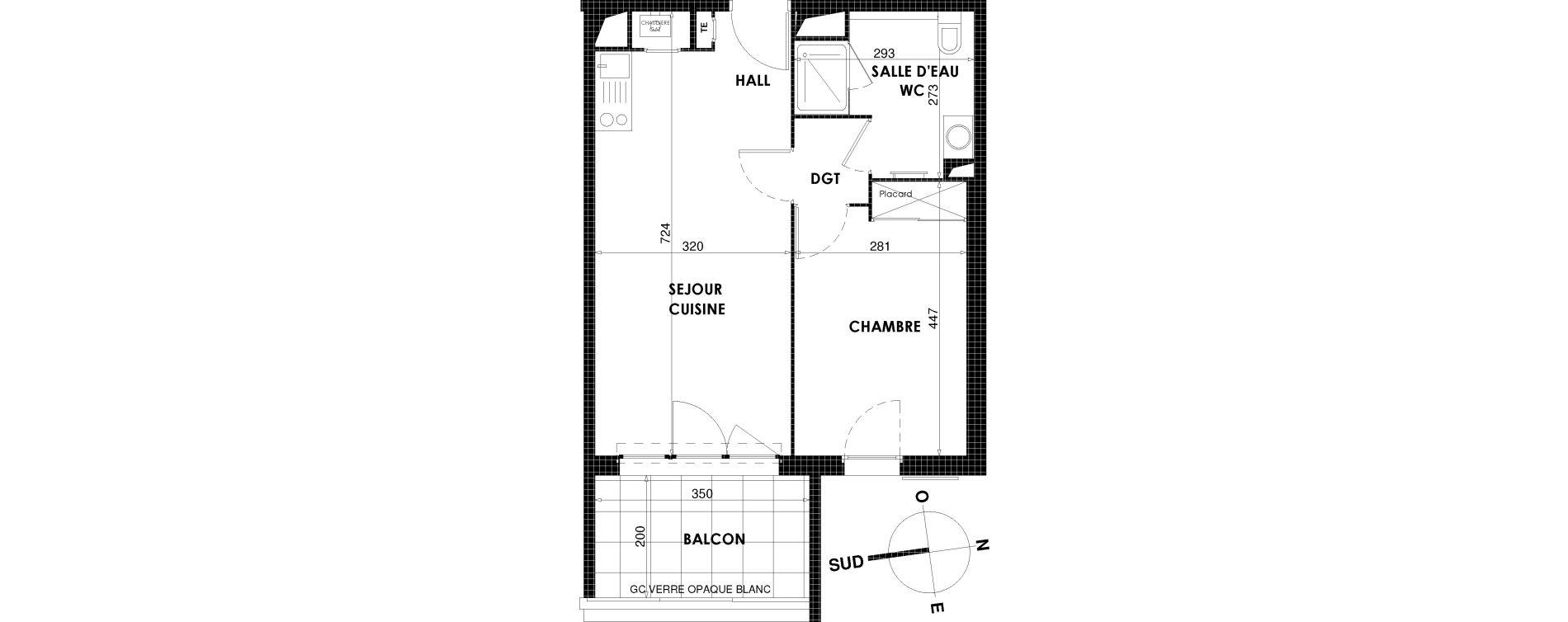 Appartement T2 de 42,34 m2 à Draguignan Centre
