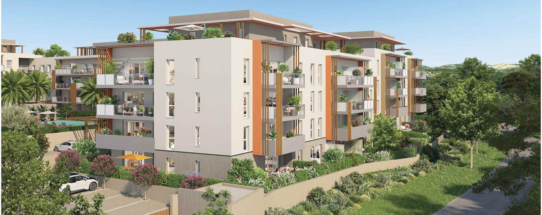 Fréjus : programme immobilier neuve « Pure Valescure - Nue-Propriété » en Nue Propriété