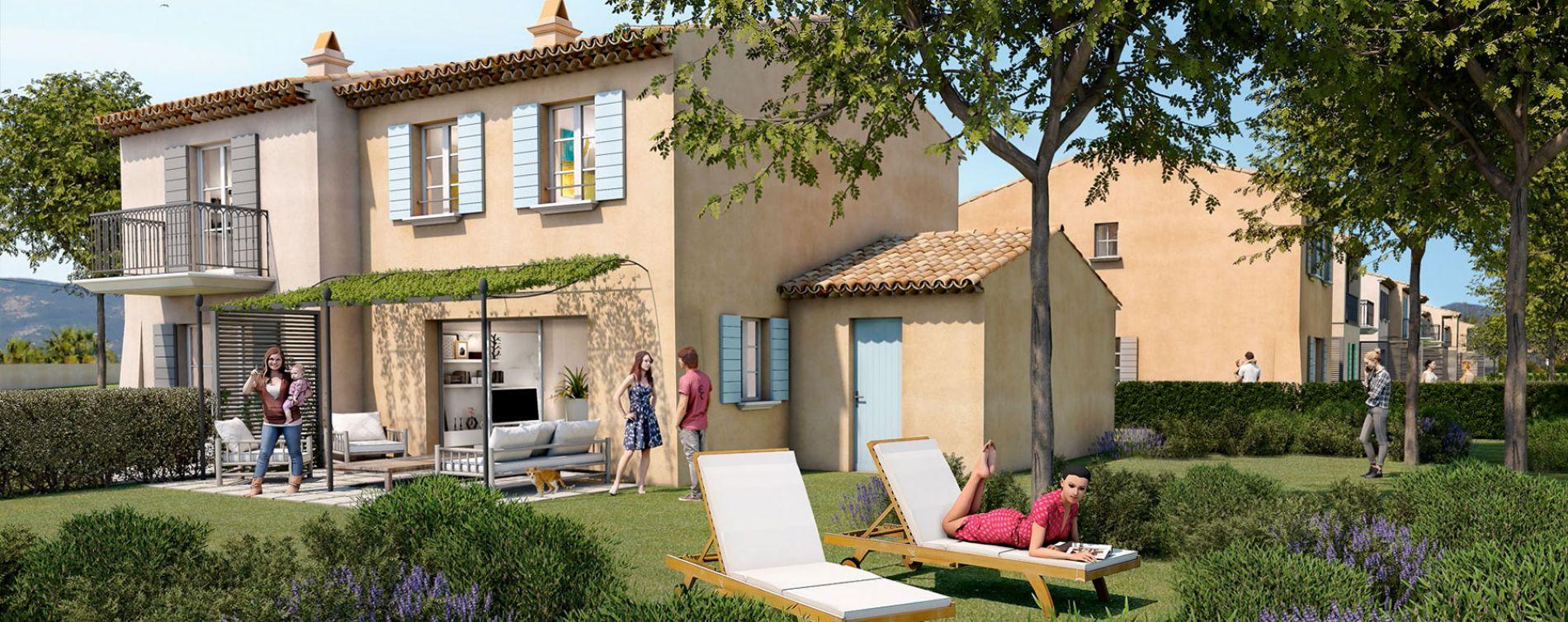 Grimaud : programme immobilier neuve « Domaine des Fées » (2)