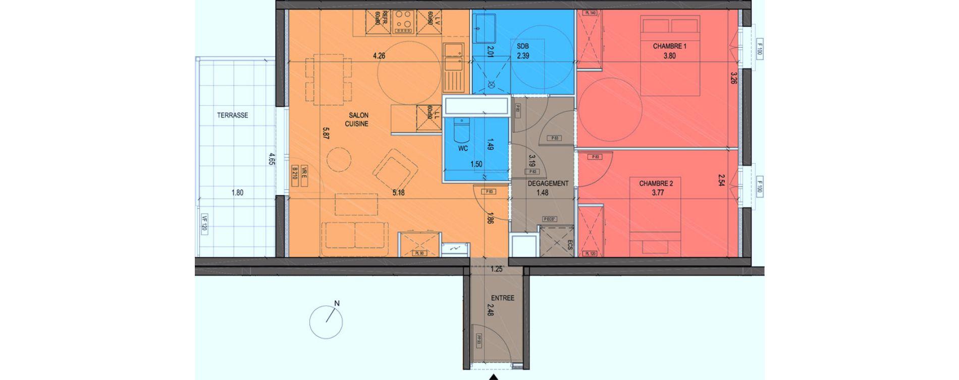 Plan T3 neuf à Grimaud de