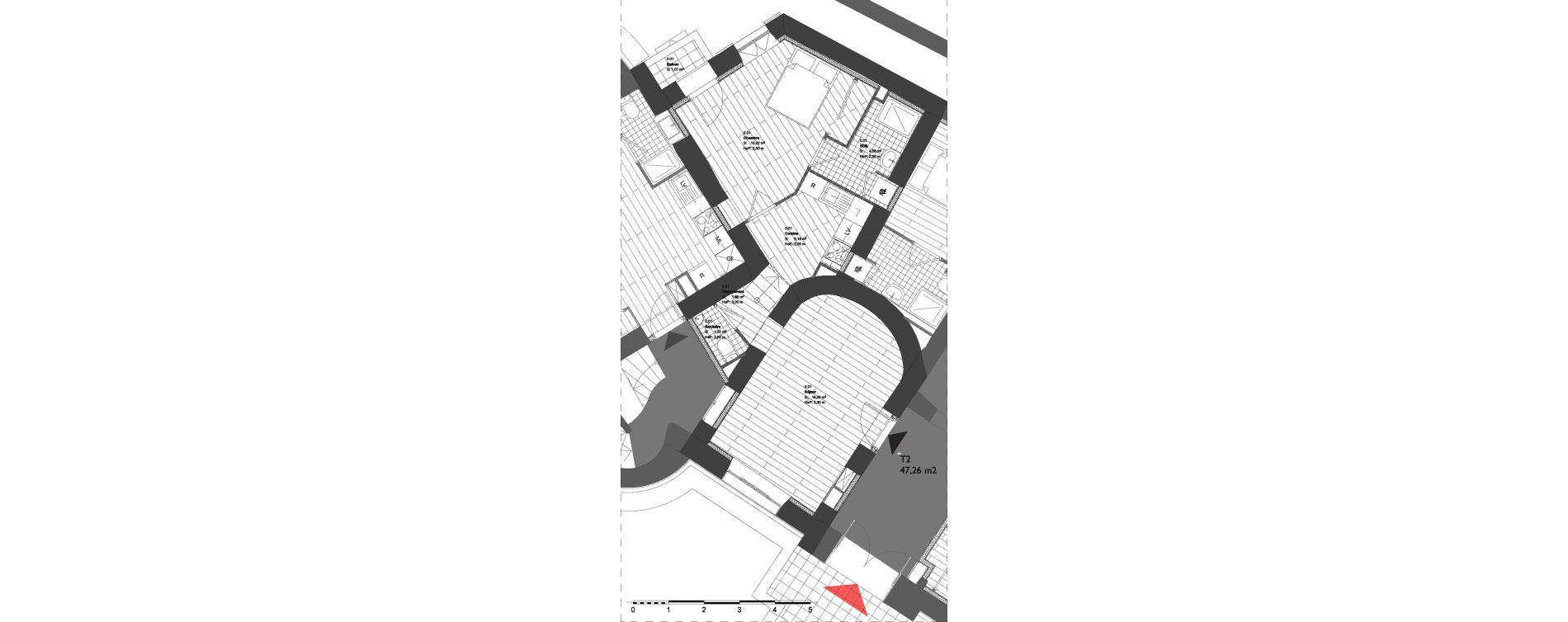Appartement T2 de 47,26 m2 à La Londe-Les-Maures Centre