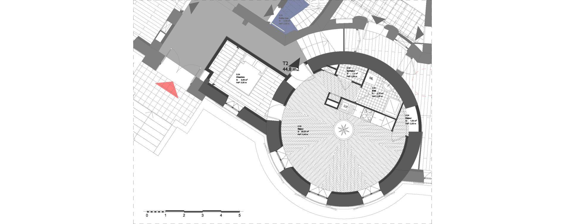 Appartement T2 de 44,80 m2 à La Londe-Les-Maures Centre